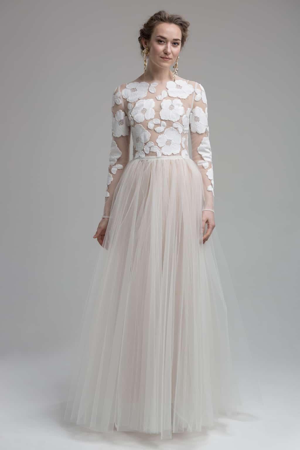 Madison - 2in1 Brautkleid mit zarter, handgestickter Spitze und leichtem Tüllrock.